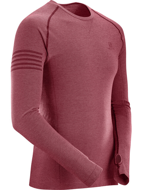 Salomon Pulse Seamless LS Tee Men Biking Red